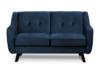 TERSO Skandynawska sofa 2 osobowa welur granatowa granatowy - zdjęcie 1