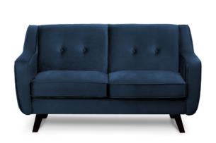 TERSO, https://konsimo.pl/kolekcja/terso/ Skandynawska sofa 2 osobowa welur granatowa granatowy - zdjęcie