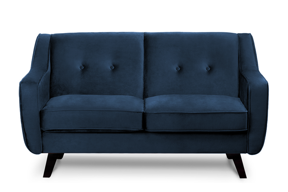TERSO Skandynawska sofa 2 osobowa welur granatowa granatowy - zdjęcie 0