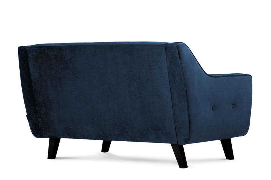 TERSO Skandynawska sofa 2 osobowa welur granatowa granatowy - zdjęcie 2