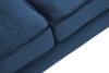 TERSO Skandynawska sofa 2 osobowa welur granatowa granatowy - zdjęcie 4