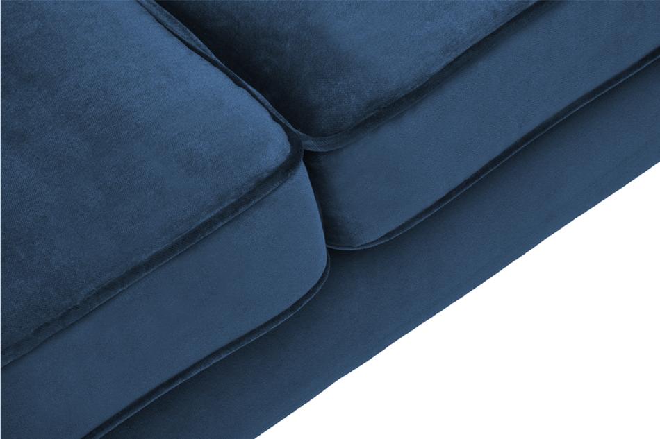 TERSO Skandynawska sofa 2 osobowa welur granatowa granatowy - zdjęcie 3