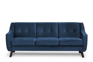 TERSO, https://konsimo.pl/kolekcja/terso/ Skandynawska sofa 3 osobowa welur granatowa granatowy - zdjęcie