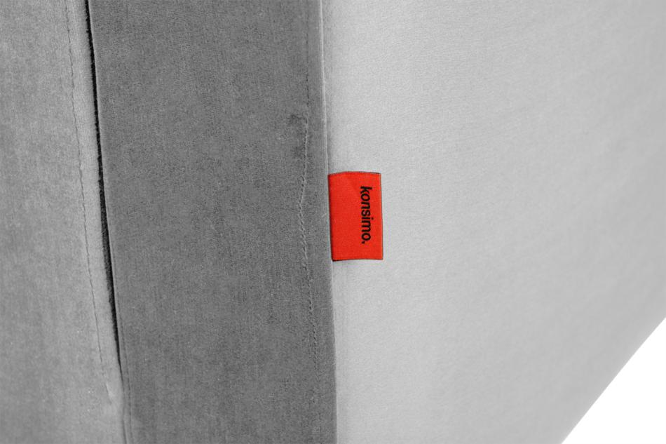 ERISO Szara sofa welurowa 3 osobowa rozkładana szary - zdjęcie 7