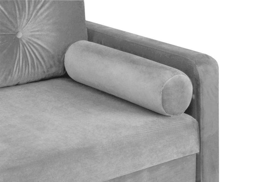 ERISO Szara sofa welurowa 3 osobowa rozkładana szary - zdjęcie 5
