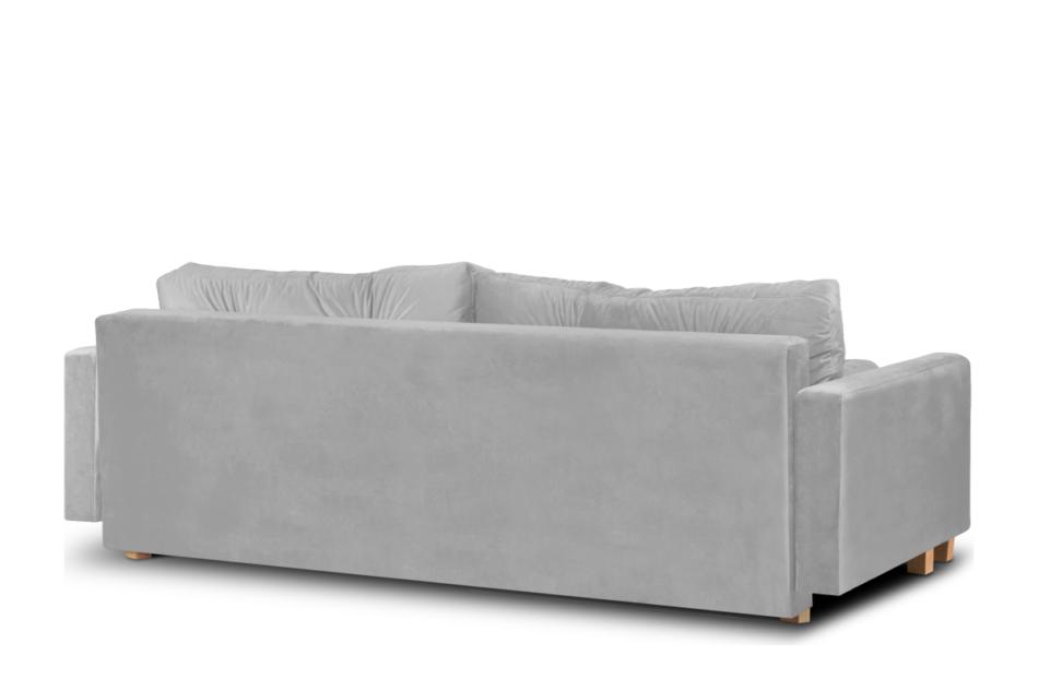 ERISO Szara sofa welurowa 3 osobowa rozkładana szary - zdjęcie 2