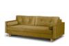 ERISO Żółta welurowa sofa 3 osobowa rozkładana miodowy - zdjęcie 2