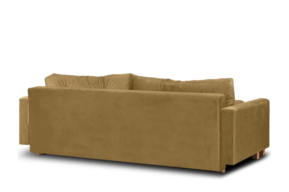 ERISO Żółta welurowa sofa 3 osobowa rozkładana miodowy - zdjęcie 3