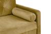 ERISO Żółta welurowa sofa 3 osobowa rozkładana miodowy - zdjęcie 6