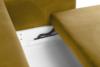 ERISO Żółta welurowa sofa 3 osobowa rozkładana miodowy - zdjęcie 5