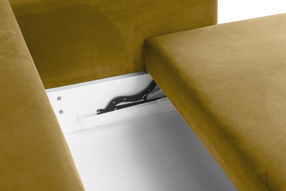 ERISO Żółta welurowa sofa 3 osobowa rozkładana miodowy - zdjęcie 4