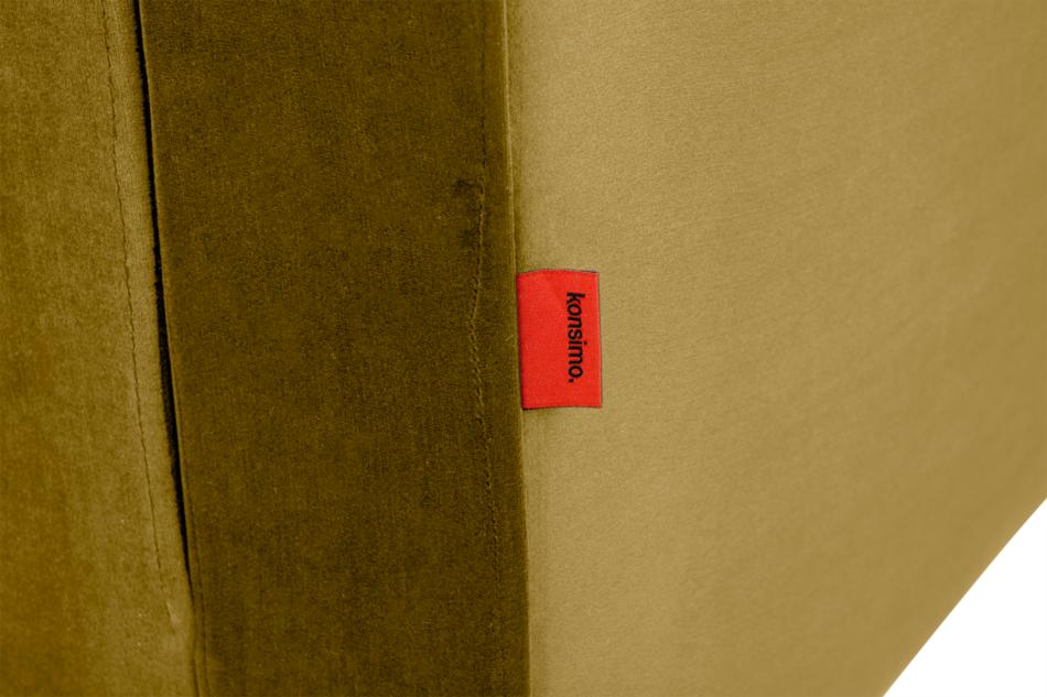 ERISO Żółta welurowa sofa 3 osobowa rozkładana miodowy - zdjęcie 7