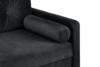 ERISO Ciemnoszara welurowa sofa 3 osobowa rozkładana grafitowy - zdjęcie 6
