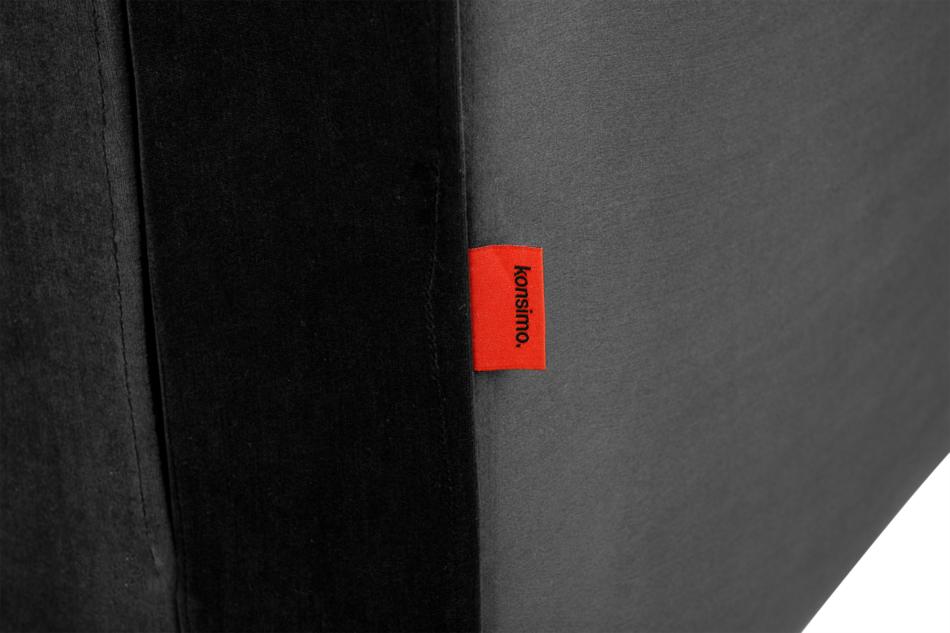 ERISO Ciemnoszara welurowa sofa 3 osobowa rozkładana grafitowy - zdjęcie 7