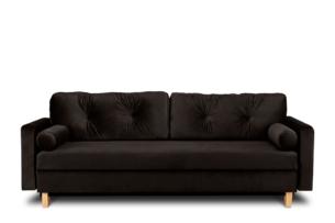 ERISO, https://konsimo.pl/kolekcja/eriso/ Brązowa sofa 3 osobowa rozkładana brązowy - zdjęcie