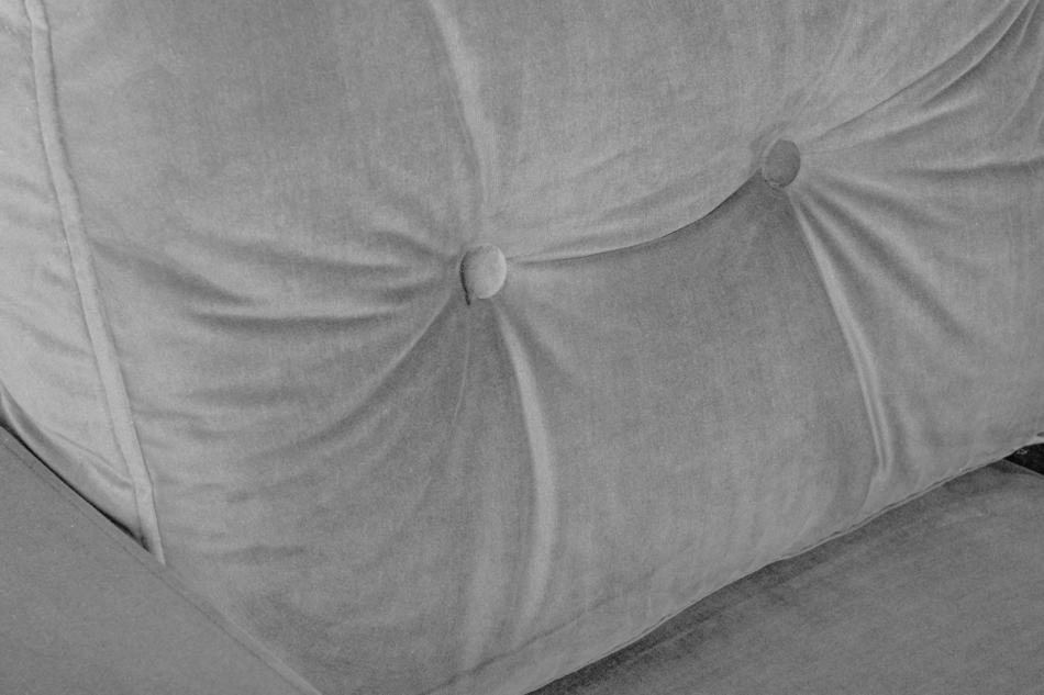 ERISO Welurowy szary fotel do salonu szary - zdjęcie 4
