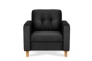 ERISO, https://konsimo.pl/kolekcja/eriso/ Ciemnoszary welurowy fotel do salonu grafitowy - zdjęcie