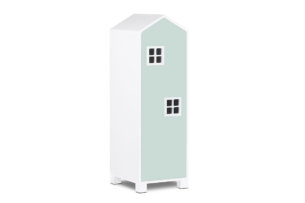 MIRUM, https://konsimo.pl/kolekcja/mirum/ Szafa domek dla dziecka biały/ciemny miętowy - zdjęcie