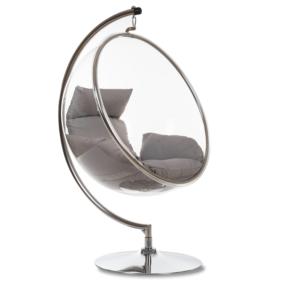 CULLUS, https://konsimo.pl/kolekcja/cullus/ Fotel wiszący jasny szary - zdjęcie