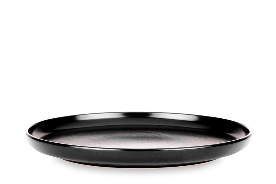 VICTO Nowoczesny serwis obiadowy 6 os. 24 elementy Czarny mat czarny/matowy - zdjęcie 4