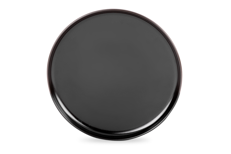 VICTO Talerz obiadowy czarny/matowy - zdjęcie 1