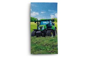 DIMUS, https://konsimo.pl/kolekcja/dimus/ Ręcznik traktor niebieski/zielony - zdjęcie