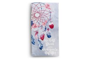 DIMUS, https://konsimo.pl/kolekcja/dimus/ Ręcznik łapacz snów niebieski/różowy - zdjęcie