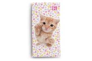 FABULIO, https://konsimo.pl/kolekcja/fabulio/ Ręcznik The Cat rudy - zdjęcie