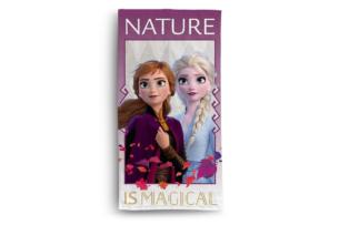 FABULIO, https://konsimo.pl/kolekcja/fabulio/ Ręcznik Frozen fioletowy/biały - zdjęcie