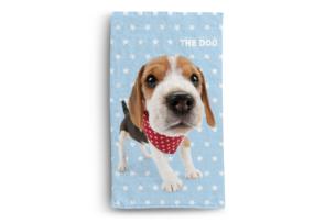 FABULIO, https://konsimo.pl/kolekcja/fabulio/ Ręcznik the Dog niebieski/biały/brązowy - zdjęcie