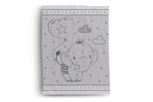 COLIO, https://konsimo.pl/kolekcja/colio/ Koc dziecięcy słonik szary - zdjęcie