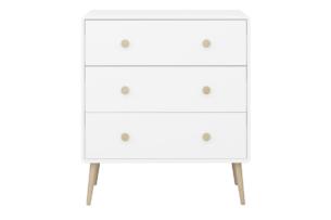GAIA, https://konsimo.pl/kolekcja/gaia/ Komoda dla dzieci z szufladami biała biały/dąb - zdjęcie