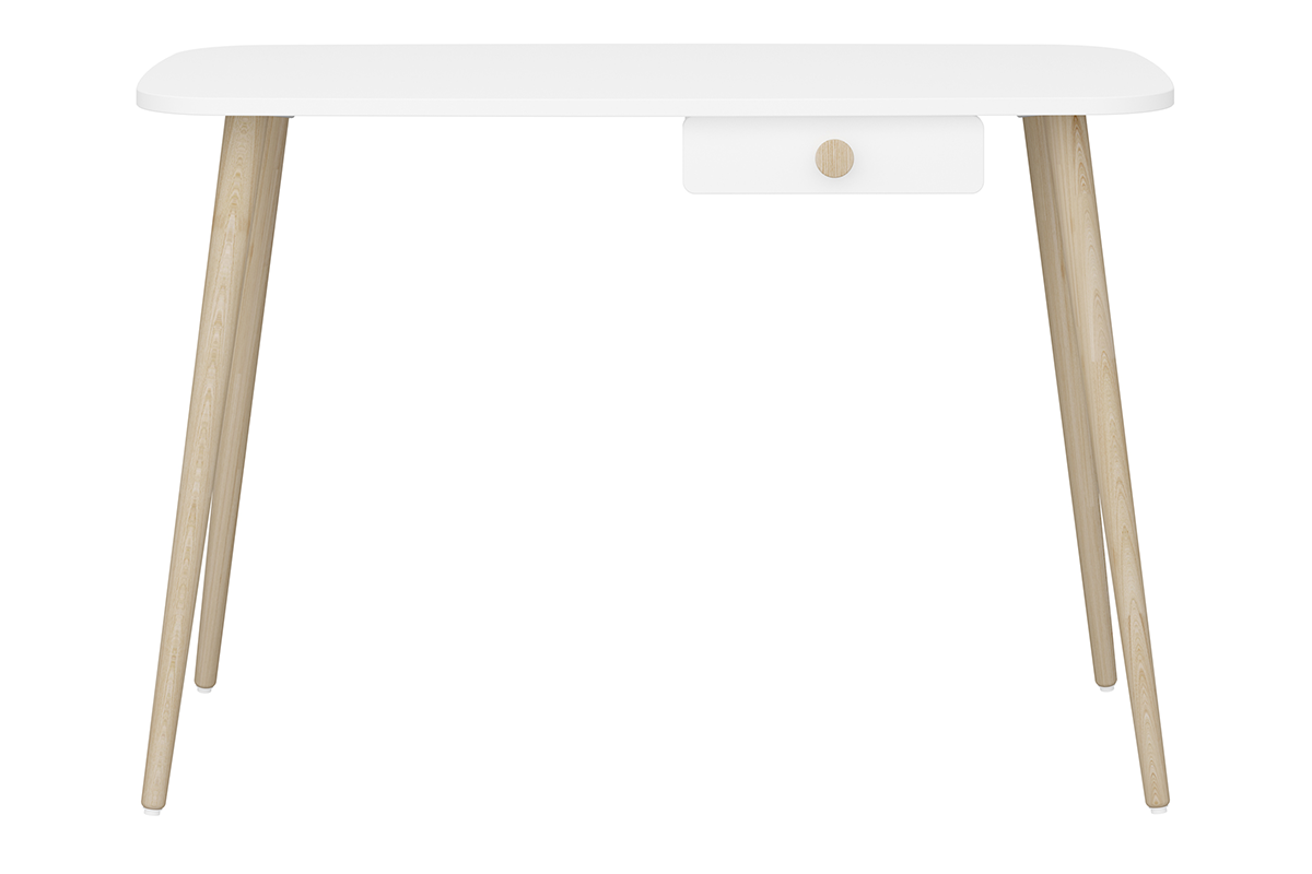 Biurko dla dzieci z szufladką białe