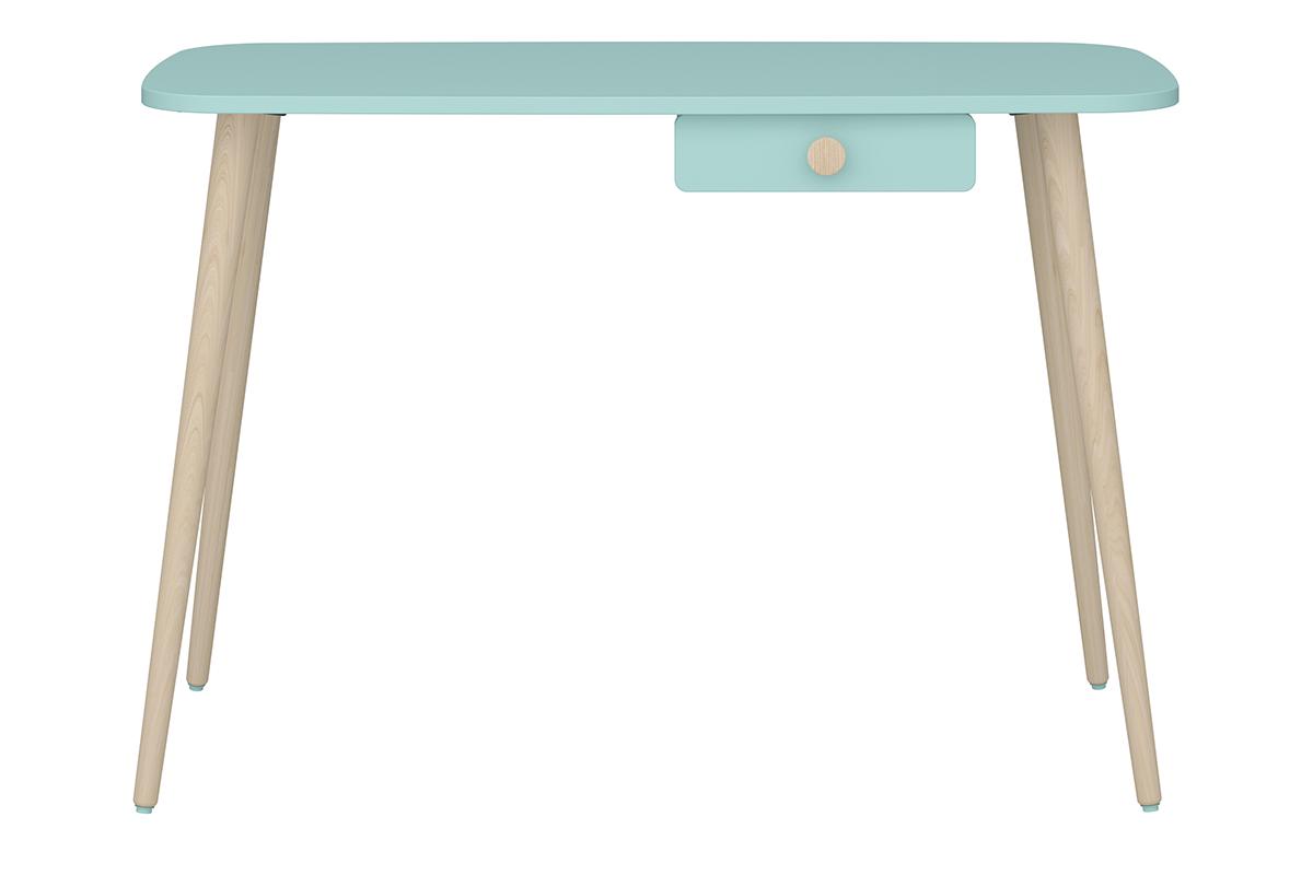 Biurko dla dzieci z szufladką pastelowe zielone