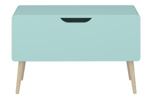 GAIA, https://konsimo.pl/kolekcja/gaia/ Skrzynia do przechowywania dla dzieci pastelowy zielony miętowy/dąb - zdjęcie