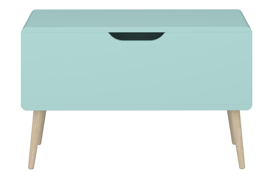GAIA Skrzynia do przechowywania dla dzieci pastelowy zielony miętowy/dąb - zdjęcie 0