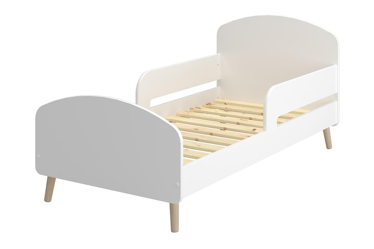 Rama łóżka dla dzieci ze stelażem biała