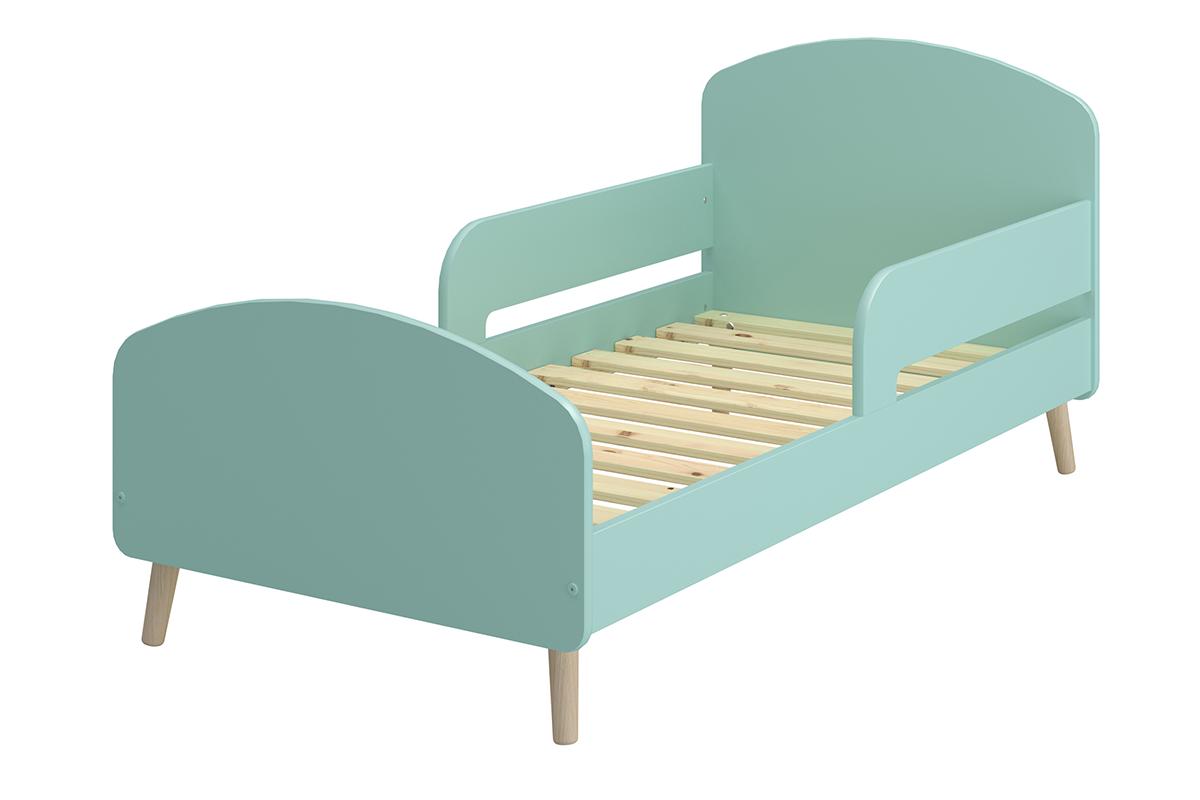 Rama łóżka dla dzieci ze stelażem pastelowa zielona
