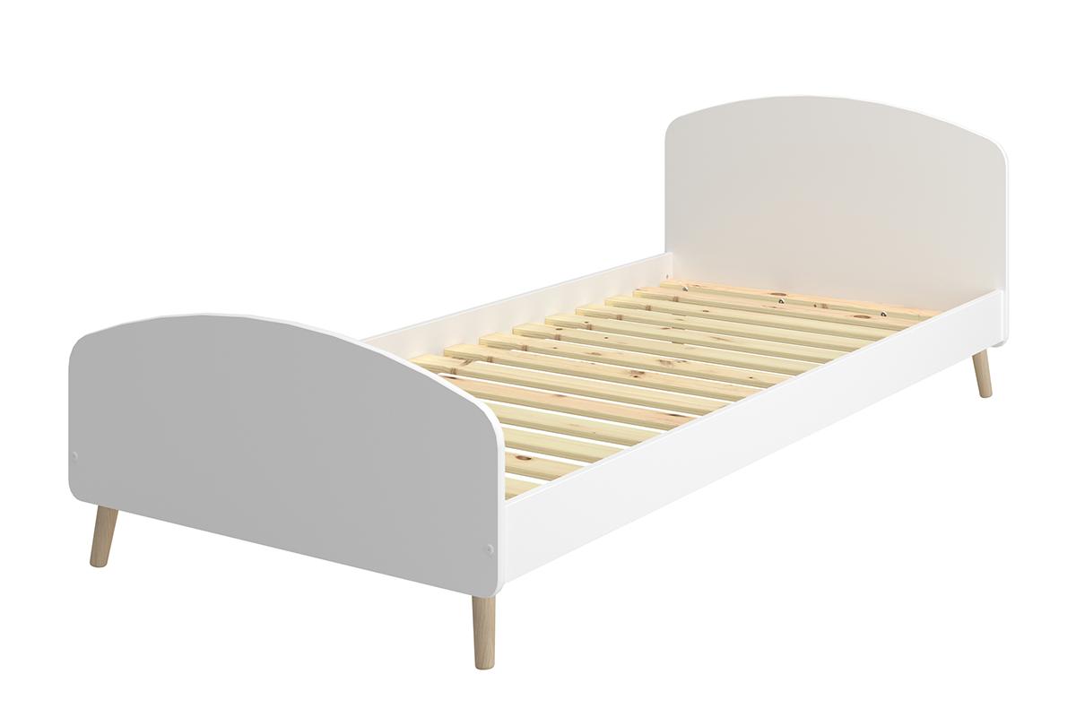 Duże łóżko dla dziecka białe