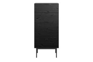 SOMA, https://konsimo.pl/kolekcja/soma/ Wysoka komoda w stylu loft na nóżkach czarna czarny - zdjęcie