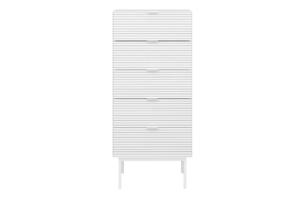 SOMA, https://konsimo.pl/kolekcja/soma/ Wysoka komoda w stylu loft na nóżkach biała biały - zdjęcie