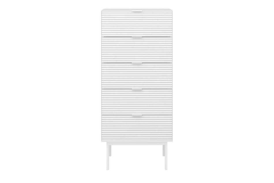 SOMA Wysoka komoda w stylu loft na nóżkach biała biały - zdjęcie 0