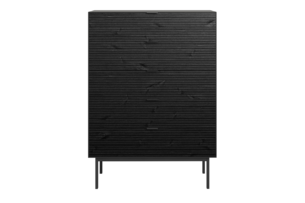 SOMA, https://konsimo.pl/kolekcja/soma/ Komoda z szufladami w stylu loft na nóżkach czarna czarny - zdjęcie