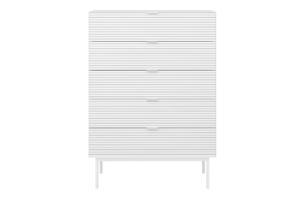 SOMA, https://konsimo.pl/kolekcja/soma/ Komoda z szufladami w stylu loft na nóżkach biała biały - zdjęcie
