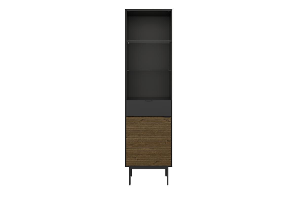 Regał w stylu loft na nóżkach czarny jesion