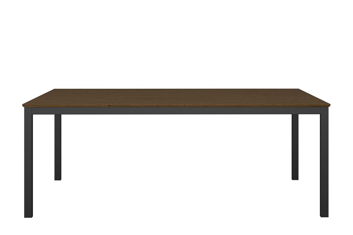 Stół 200 cm w stylu loft czarny jesion