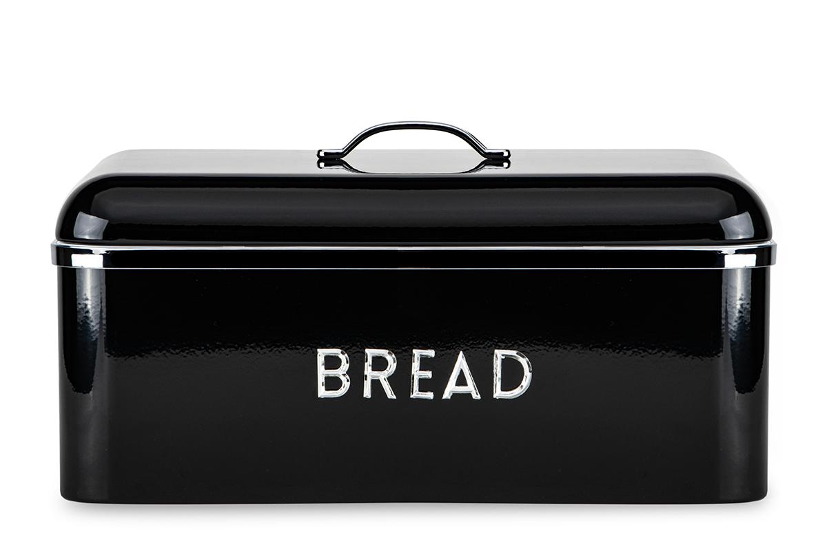 Chlebak stalowy czarny