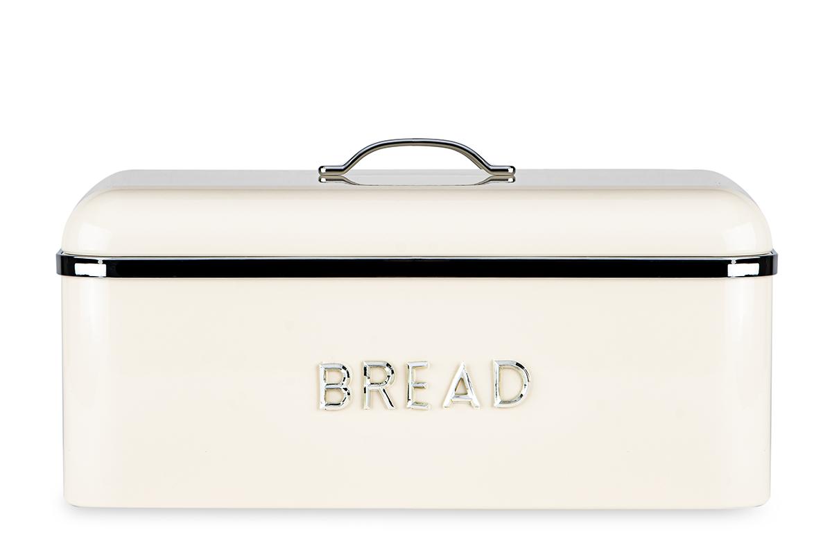 Chlebak stalowy kremowy