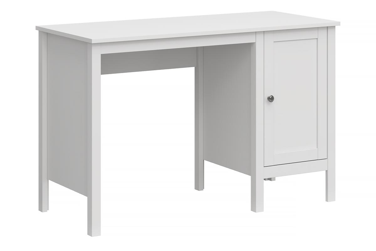 Eleganckie biurko z półkami białe