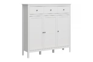 FARGE, https://konsimo.pl/kolekcja/farge/ Elegancka komoda 130 cm biała biały - zdjęcie